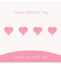 Hearts Clouds to Talk vector image
