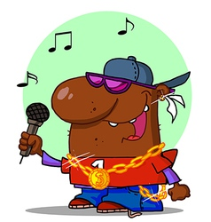 Hip hop cartoon vector image