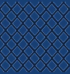 Indigo blue mosaic tile shapes pattern vector
