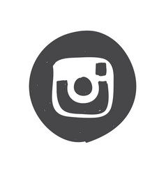 instagram logo icon simple car sign vector image