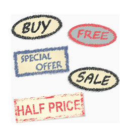 labeling since the sale of goods vector image