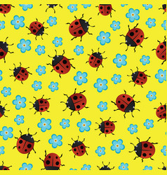 Ladybirds pattern-01 vector