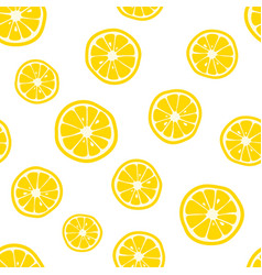 Lemon slices pattern citrus background vector