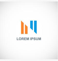 line shape colored logo vector image