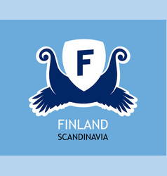 Logo for travel company in finland vector