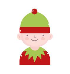 merry christmas helper santa decoration icon vector image