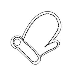 Mitten glove icon image vector