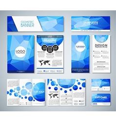 Mockup polygonal corporate identity vector image