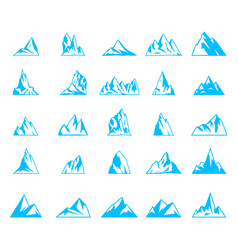 Nature or outdoor mountain silhouettes vector