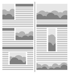 newspaper design template page of the journal vector image