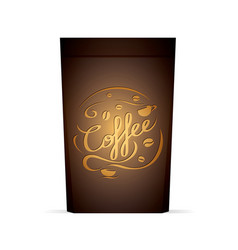 packaging for coffee template with coffee vector image