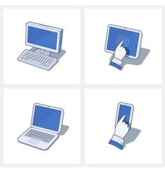 Personal computer and mobile vector