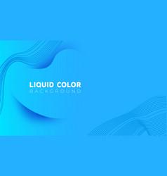plastic liquid waves banner template vector image