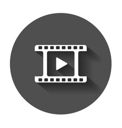 Play icon play video in flat style on black vector