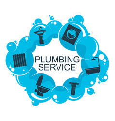 plumbing service and maintenance design vector image