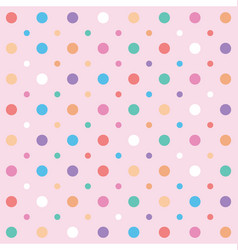 polka dots and circles seamless pattern vector image