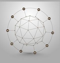 Polygonal sphere information vector