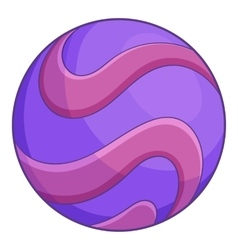 Purple abstract planet icon cartoon style vector image