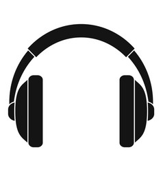 rap headset icon simple style vector image
