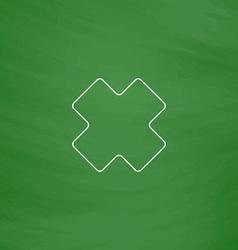 rejected computer symbol vector image