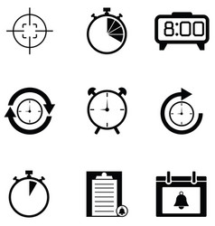 reminders icon set vector image