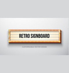 retro signboard or lightbox vector image