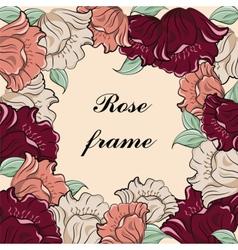 Rose flower vintage frame vector image