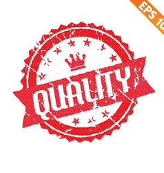 Rubber stamp with quality word - - EPS10 vector image