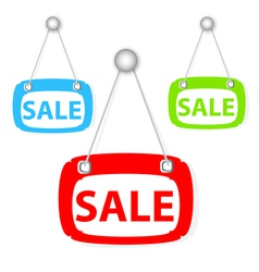 sale signboard vector image