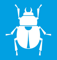 Scarab icon white vector