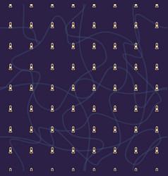 Seamless abstract retro geometric pattern vector