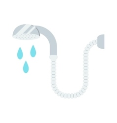 Shower cartoon flat vector