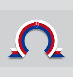 Slovak flag rounded abstract background vector