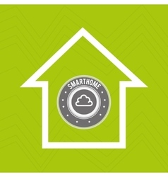 smart home with cloud computing isolated icon vector image