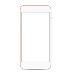 smartphone mockup with blank screen isolated on vector image
