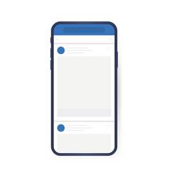 social media design concept smartphone vector image