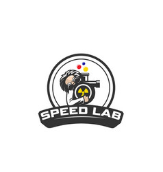 speed lab vector image
