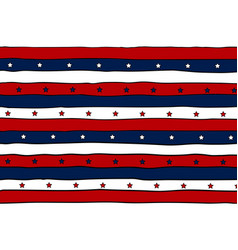 Striped patriotic background with stars vector