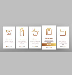 Takeout food onboarding vector