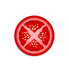 Tomato slice vector