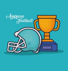 trophy winner award american football vector image