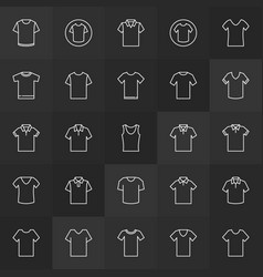 Tshirt minimal outline icons t-shirt vector