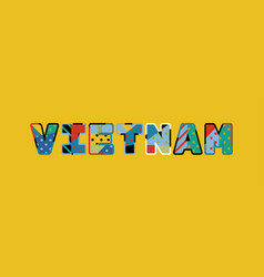 vietnam concept word art vector image
