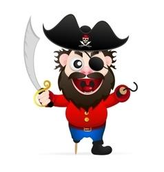 Cartoon funny pirate vector image