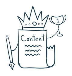 Content is king vector image vector image