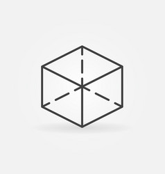 cube line icon vector image vector image