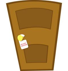 do not disturb door vector image