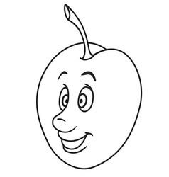fresh plum cartoon vector image