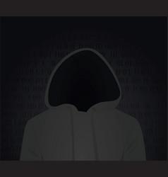 hacker silhouette vector image vector image