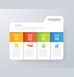 infographic tab index design and marketing vector image
